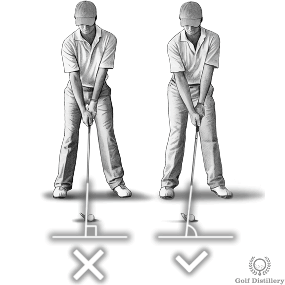 Lean the shaft forward at address swing thought