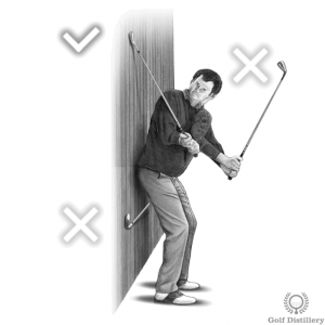 Proper club path backswing drill
