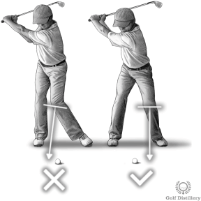 Move left knee forward swing thought