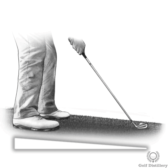 Ball below your feet golf lie