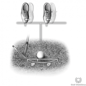 Aim to hit 2 inches behind the ball and position the ball forward for a bunker shot