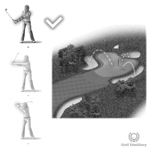 Use a shorter backswing for a short bunker shot