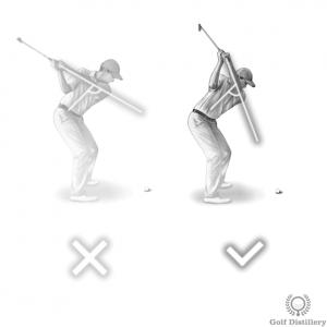 Use a steeper swing