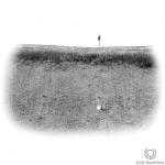 Upslope (Uphill) Bunker Shot Lie