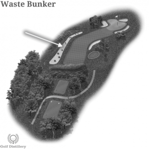 Waste bunkers on a golf course