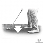 Downhill (Downslope) golf lie