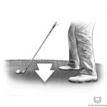 Downhill (Downslope) golf lie