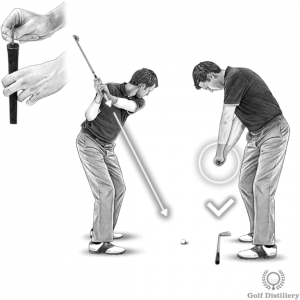 Proper club path downswing drill