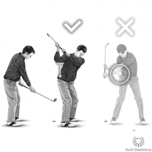 Over the top fix downswing drill