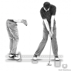 Proper weight transfer downswing drill