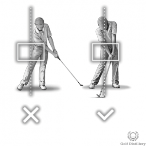 Hips should not sway during the downswing