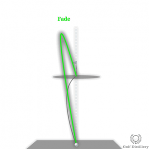 Fade golf ball flight path
