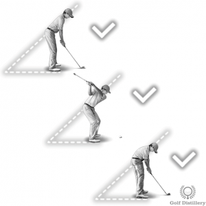 Rotate your upper body around an imaginary spear to maintain your spine angle constant to impact