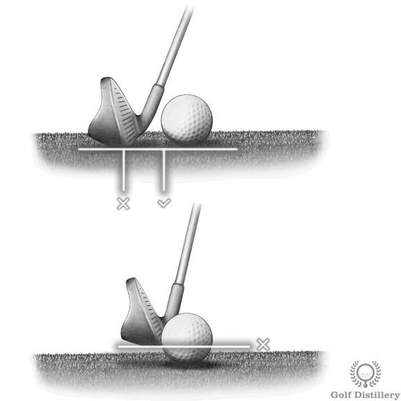 Failing to maintain spine angle leads to fat or thin shots