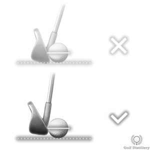 Aim to hit the ball a little thin for a fairway bunker shot
