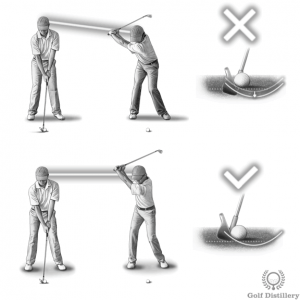 Failing to keep your spine angle constant can lead to a fat shot