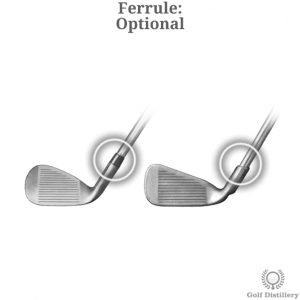 Comparison between a club with a Ferrule and one without
