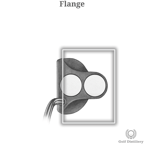 The Flange part of a golf club