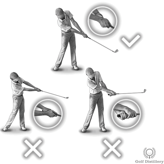 Release of the hands during the follow through