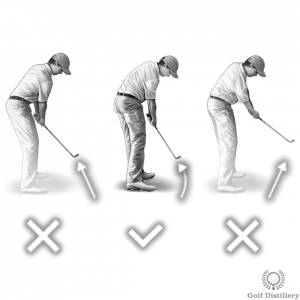 Swing path during the follow through