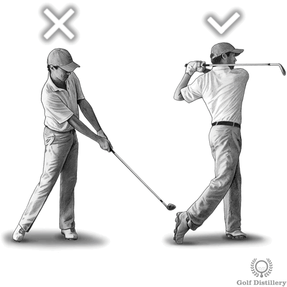 Don't quit your swing; complete your follow through swing thought