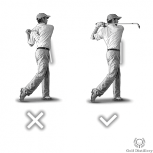 Golfer should be facing the target at the follow through