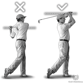 Finish your swing high at the end of your follow through