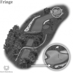 The golf term fringe is located on a golf hole