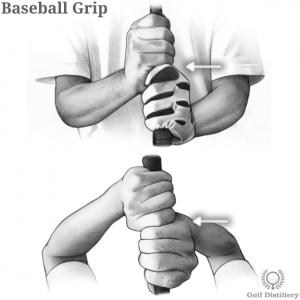 Baseball grip type in golf