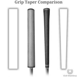Comparison between different golf grip taper options