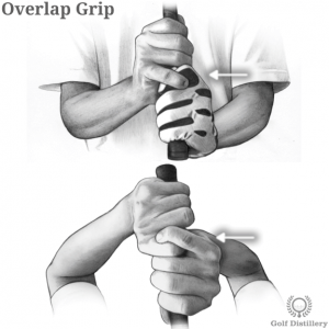 Overlap grip type in golf