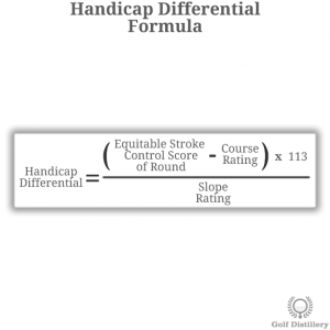 The handicap differential formula