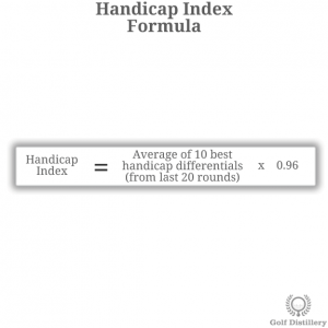 The formula to calculate your handicap index