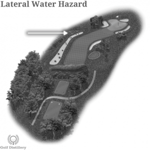 Lateral Water Hazard is located on a golf hole