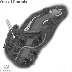 Out of Bounds is located on a golf hole