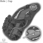 A Cup or Hole is located on a golf hole