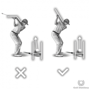 A bowed left wrist at the top of the swing can lead to a hook