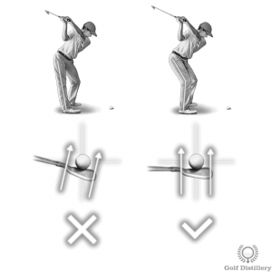 Locking your right knee at the top of the swing can lead to a hook