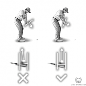 A closed clubface takeaway position can lead to a hook