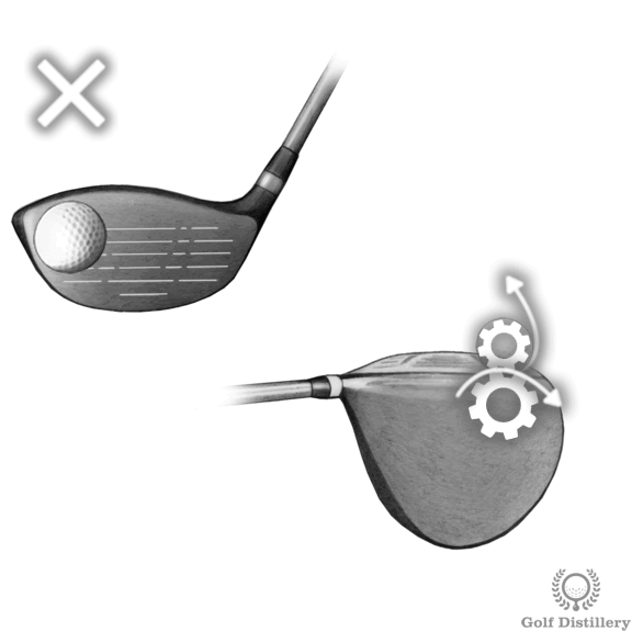 A ball hit on the toe of the clubface can lead to a hook