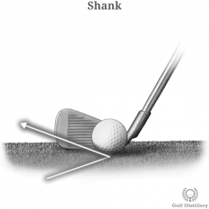 Hitting a ball on a hosel can lead to shanks