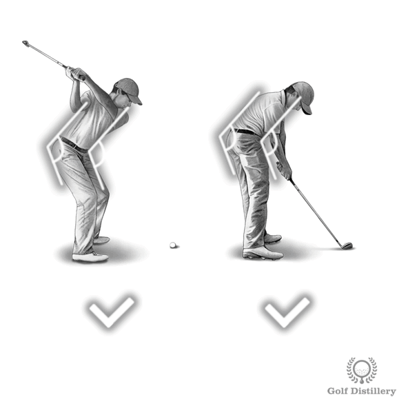Spine angle at impact should match one set at address