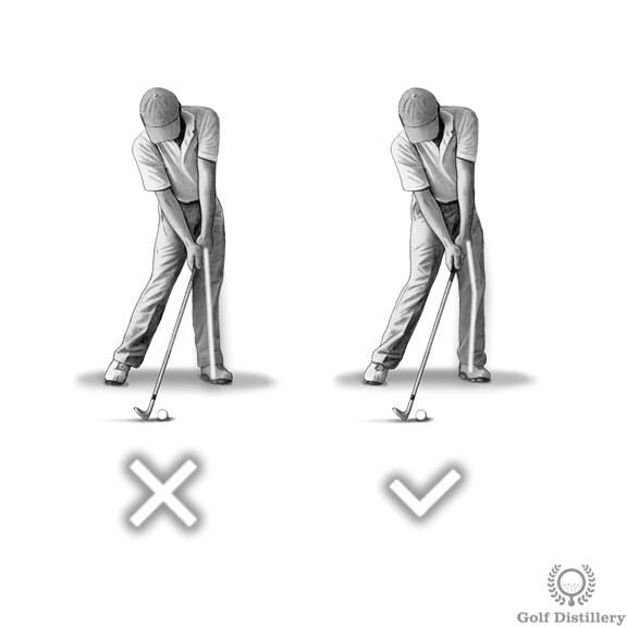 Locking the left knee swing error