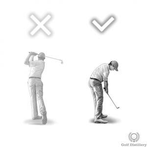 Shorten your follow through when hitting a low shot