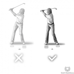 Your weight should move towards your back foot during the backswing