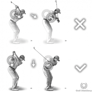 Initiate your downswing by letting your right elbow drop instead of moving it forward