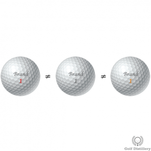 Changing golf balls can lead to overclubbing