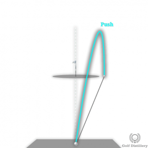 Push golf ball flight path