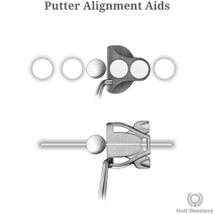 Putter with alignment aids
