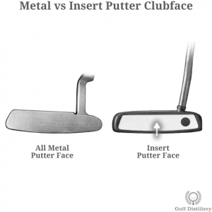 All metal putter face vs insert putter face